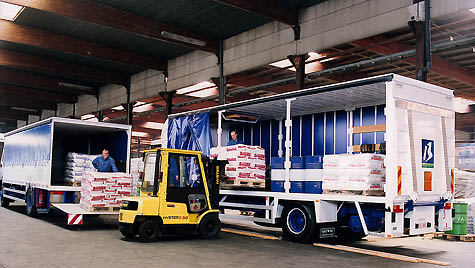 Loading operations at one Brenntag's distribution trucks